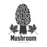 蘑菇商标模板 免版税图库摄影