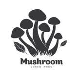 蘑菇商标模板 库存照片