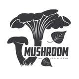 蘑菇商标模板 库存图片