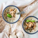 蘑菇奶油色汤 图库摄影