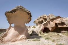 蘑菇岩石在卡帕多细亚, Nevsehir 库存照片