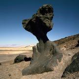 蘑菇岩石,死亡谷,加利福尼亚 图库摄影