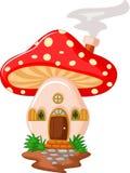 蘑菇房子动画片 免版税库存图片