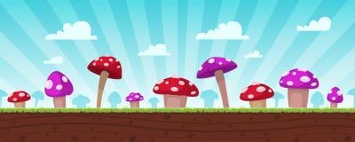 蘑菇比赛背景 向量例证