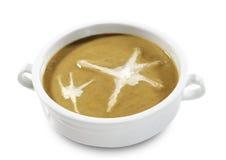 蘑菇汤奶油  免版税库存图片