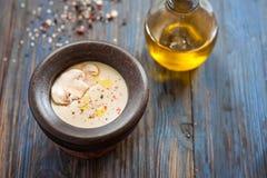 蘑菇汤纯汁浓汤 库存图片