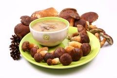 蘑菇汤 免版税库存图片