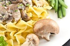 蘑菇沙拉酱肉 免版税库存图片