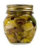 蘑菇油 免版税库存图片