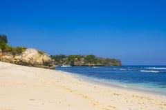 蘑菇海滩,努沙Lembongan 免版税库存照片