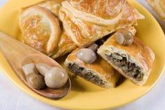 蘑菇肉馅饼 免版税图库摄影