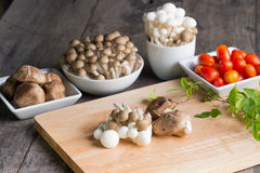 蘑菇膳食 库存图片