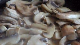 蘑菇蘑菇在煎锅油煎 股票录像