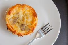 蘑菇饼和火腿 免版税图库摄影