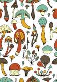 蘑菇,您的设计的无缝的样式 库存例证