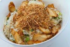蘑菇黏米饭 库存照片