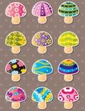 蘑菇贴纸 图库摄影