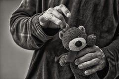 虐待儿童概念 库存图片