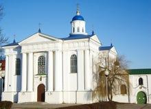 虔诚比拉罗斯教会uspensky zhirovichy 库存图片