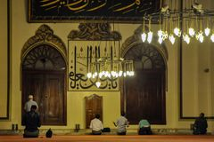 虔诚祷告在伯萨,土耳其 库存照片