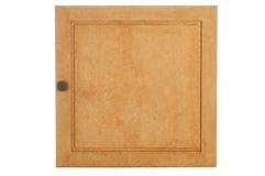 虚假与纹理的被绘的黄色被定调子的碗柜门 免版税库存照片