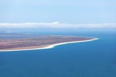 从虚张声势小山监视的看法,南方,新西兰 库存照片