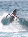 虚张声势的人赞成圣塔玛丽亚冲浪者 免版税库存图片
