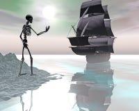 虚拟件船 免版税库存图片