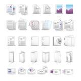 虚拟图标打印 免版税库存图片