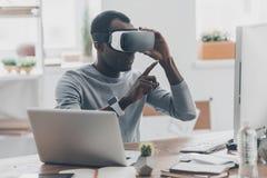 虚拟工作 免版税库存图片