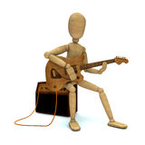 虚拟弹电吉他 免版税库存图片