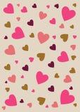 虚拟抽象背景褐色爱粉红色 免版税库存照片