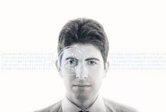 虚拟接触界面的概念 免版税库存照片