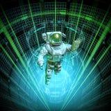 虚拟数据核心宇航员 向量例证