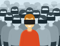 虚拟现实一代 库存照片