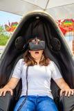 虚拟现实吸引力保加利亚瓦尔纳16 05 2018年 免版税库存照片