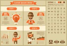 虚拟现实平的设计Infographic模板 库存照片