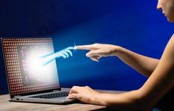 虚拟现实或人工智能技术概念 免版税库存照片
