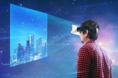 虚拟现实概念性图象 库存照片