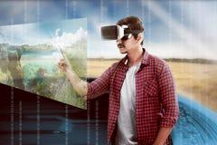 虚拟现实概念性图象 库存图片