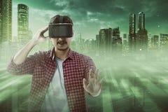 虚拟现实概念性图象 免版税库存图片