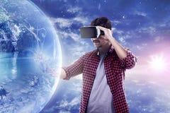 虚拟现实概念性图象 免版税库存照片
