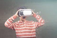 虚拟现实概念 免版税库存照片