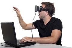 虚拟现实游戏玩家 库存图片