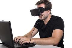 虚拟现实游戏玩家 库存照片
