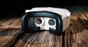 虚拟现实玻璃, 360度录影耳机 免版税图库摄影