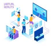 虚拟现实等量构成 向量例证