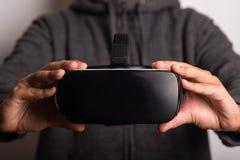 虚拟现实耳机细节前面视图  免版税库存图片