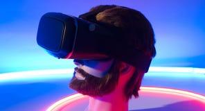 虚拟现实耳机360 3D玻璃 库存图片