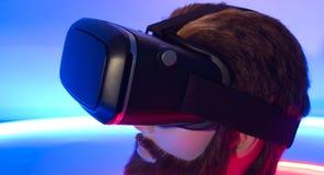 虚拟现实风镜360 3D耳机 免版税库存照片